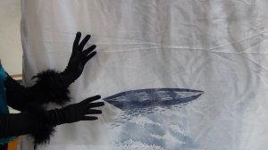 Dialogue avec mon ombre - Dana Radulescu estampe -  Karine Leroy - mains