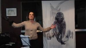 Dialogue avec mon ombre - Karine Leroy - estampe de  Dana Radulescu